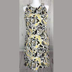 Banana Republic Printed Shift Dress Pockets NWT